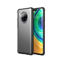 Huawei Mate 30 Pro用極薄ケース クリア透明 プラスチック 質感もマットU02 ファーウェイ ブラック