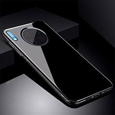 Huawei Mate 30 Pro用ハイブリットバンパーケース プラスチック 鏡面 カバー M01 ファーウェイ ブラック