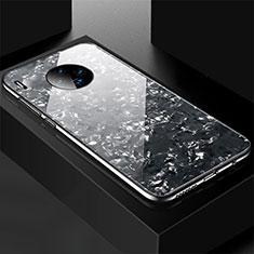 Huawei Mate 30 Pro用ハイブリットバンパーケース プラスチック 鏡面 カバー M02 ファーウェイ ブラック