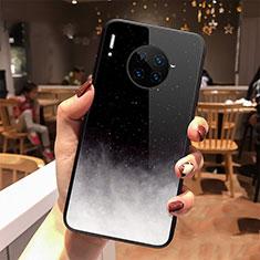 Huawei Mate 30 Pro用ハイブリットバンパーケース プラスチック 星空 鏡面 カバー ファーウェイ ブラック