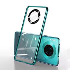 Huawei Mate 30 Pro用ハードカバー クリスタル クリア透明 S01 ファーウェイ グリーン