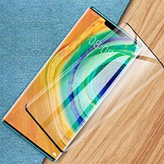 Huawei Mate 30 Pro用強化ガラス フル液晶保護フィルム F07 ファーウェイ ブラック