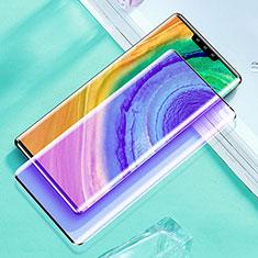 Huawei Mate 30 Pro用強化ガラス フル液晶保護フィルム アンチグレア ブルーライト ファーウェイ ブラック