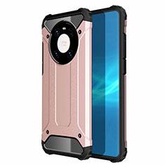 Huawei Mate 40用ハイブリットバンパーケース プラスチック 兼シリコーン カバー U01 ファーウェイ ローズゴールド
