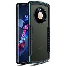 Huawei Mate 40用ハイブリットバンパーケース クリア透明 プラスチック 鏡面 カバー ファーウェイ グリーン