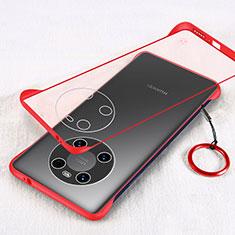 Huawei Mate 40用ハードカバー クリスタル クリア透明 H01 ファーウェイ レッド