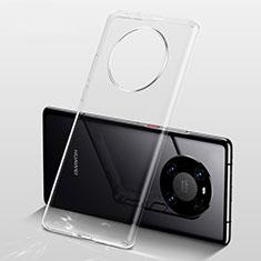 Huawei Mate 40用極薄ソフトケース シリコンケース 耐衝撃 全面保護 クリア透明 カバー ファーウェイ クリア
