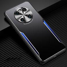 Huawei Mate 40用ケース 高級感 手触り良い アルミメタル 製の金属製 カバー ファーウェイ ネイビー