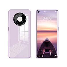 Huawei Mate 40用ハイブリットバンパーケース プラスチック 鏡面 カバー T01 ファーウェイ ラベンダー