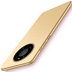 Huawei Mate 40用ハードケース プラスチック 質感もマット カバー P02 ファーウェイ ゴールド