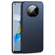 Huawei Mate 40用ケース 高級感 手触り良いレザー柄 K01 ファーウェイ ネイビー