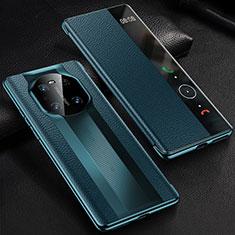 Huawei Mate 40用手帳型 レザーケース スタンド カバー K01 ファーウェイ ネイビー