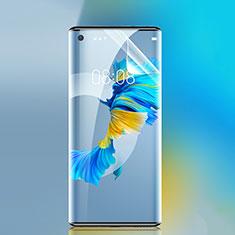 Huawei Mate 40用高光沢 液晶保護フィルム フルカバレッジ画面 ファーウェイ クリア
