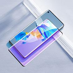 Huawei Mate 40用強化ガラス フル液晶保護フィルム アンチグレア ブルーライト F02 ファーウェイ ブラック