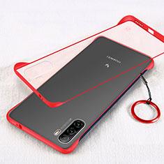 Huawei Mate 40 Lite 5G用ハードカバー クリスタル クリア透明 H01 ファーウェイ レッド