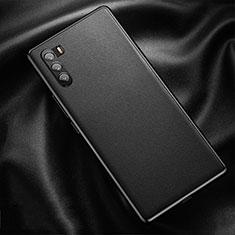 Huawei Mate 40 Lite 5G用ケース 高級感 手触り良いレザー柄 ファーウェイ ブラック