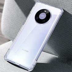 Huawei Mate 40 Pro用極薄ソフトケース シリコンケース 耐衝撃 全面保護 クリア透明 T02 ファーウェイ クリア