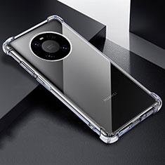Huawei Mate 40 Pro用極薄ソフトケース シリコンケース 耐衝撃 全面保護 クリア透明 T03 ファーウェイ クリア