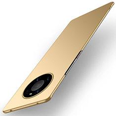 Huawei Mate 40 Pro用ハードケース プラスチック 質感もマット カバー P01 ファーウェイ ゴールド