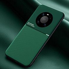 Huawei Mate 40 Pro用360度 フルカバー極薄ソフトケース シリコンケース 耐衝撃 全面保護 バンパー C01 ファーウェイ グリーン