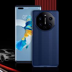 Huawei Mate 40 Pro用ハイブリットバンパーケース プラスチック 兼シリコーン カバー 前面と背面 360度 フル R01 ファーウェイ ネイビー