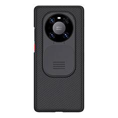 Huawei Mate 40 Pro用360度 フルカバー極薄ソフトケース シリコンケース 耐衝撃 全面保護 D01 ファーウェイ ブラック