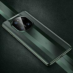 Huawei Mate 40 Pro用ケース 高級感 手触り良いレザー柄 K01 ファーウェイ モスグリー