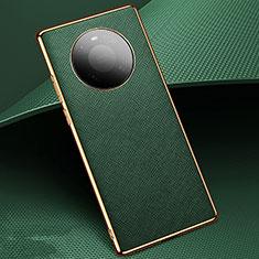 Huawei Mate 40 Pro用ケース 高級感 手触り良いレザー柄 K02 ファーウェイ グリーン