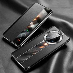Huawei Mate 40 Pro用手帳型 レザーケース スタンド カバー K05 ファーウェイ ブラック