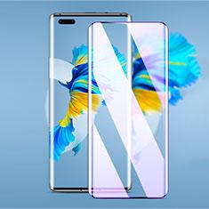Huawei Mate 40 Pro用強化ガラス フル液晶保護フィルム アンチグレア ブルーライト ファーウェイ ブラック