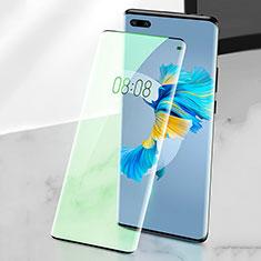Huawei Mate 40 Pro用強化ガラス フル液晶保護フィルム アンチグレア ブルーライト F02 ファーウェイ グリーン