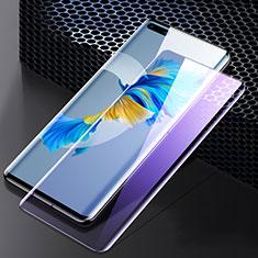 Huawei Mate 40 Pro用強化ガラス フル液晶保護フィルム アンチグレア ブルーライト F05 ファーウェイ ブラック