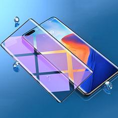Huawei Mate 40 Pro用強化ガラス フル液晶保護フィルム アンチグレア ブルーライト F06 ファーウェイ ブラック