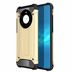 Huawei Mate 40 Pro+ Plus用ハイブリットバンパーケース プラスチック 兼シリコーン カバー U01 ファーウェイ ゴールド