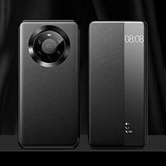 Huawei Mate 40 Pro+ Plus用手帳型 レザーケース スタンド カバー L12 ファーウェイ ブラック