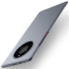 Huawei Mate 40 Pro+ Plus用ハードケース プラスチック 質感もマット カバー M01 ファーウェイ グレー