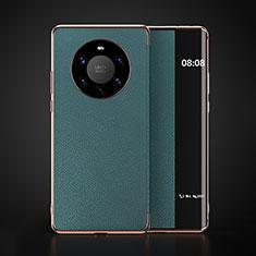 Huawei Mate 40 Pro+ Plus用手帳型 レザーケース スタンド カバー F03 ファーウェイ シアン