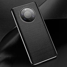 Huawei Mate 40 Pro+ Plus用ケース 高級感 手触り良いレザー柄 L03 ファーウェイ ブラック