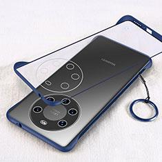 Huawei Mate 40 Pro+ Plus用ハードカバー クリスタル クリア透明 H01 ファーウェイ ネイビー