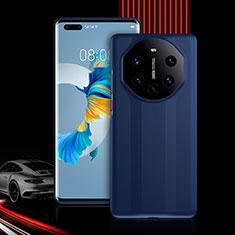 Huawei Mate 40 Pro+ Plus用ハイブリットバンパーケース プラスチック 兼シリコーン カバー 前面と背面 360度 フル R01 ファーウェイ ネイビー