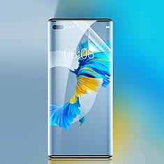 Huawei Mate 40 Pro+ Plus用高光沢 液晶保護フィルム フルカバレッジ画面 ファーウェイ クリア
