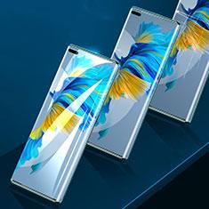 Huawei Mate 40 Pro+ Plus用高光沢 液晶保護フィルム フルカバレッジ画面 F01 ファーウェイ クリア