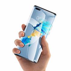 Huawei Mate 40 Pro+ Plus用強化ガラス 液晶保護フィルム T01 ファーウェイ クリア