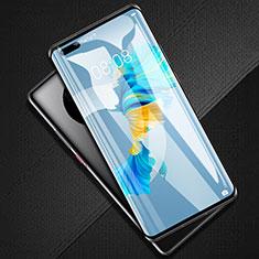 Huawei Mate 40 Pro+ Plus用強化ガラス フル液晶保護フィルム F02 ファーウェイ ブラック