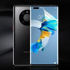 Huawei Mate 40 Pro+ Plus用高光沢 液晶保護フィルム フルカバレッジ画面 F02 ファーウェイ クリア