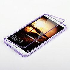 Huawei Mate 7用ソフトケース フルカバー クリア透明 ファーウェイ パープル