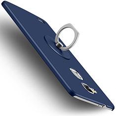 Huawei Mate 7用ハードケース プラスチック 質感もマット アンド指輪 ファーウェイ ネイビー