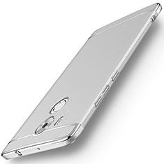 Huawei Mate 8用ケース 高級感 手触り良い メタル兼プラスチック バンパー ファーウェイ シルバー