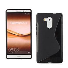Huawei Mate 8用ソフトケース S ライン ファーウェイ ブラック