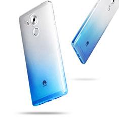 Huawei Mate 8用極薄ソフトケース グラデーション 勾配色 クリア透明 ファーウェイ ネイビー